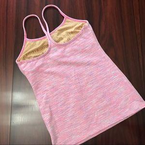 Pink Striped Lululemon Tank Top